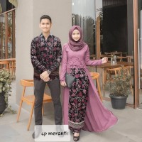 Couple meranti dusty cp zahra dusty pink baju pasangan batik pesta