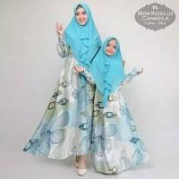 COUPLE CAMEELA Kameela + Bergo/Jilbab Gamis Ibu Anak Mom Kid