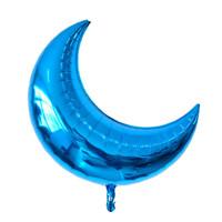 Jumbo Blue Cresent Moon Foil Balloon / Balon Foil Bulan Sabit Biru