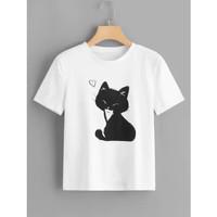 BlessCollection. TERMURAH Kaos / Atasan / T-shirt wanita KUCING GARONG