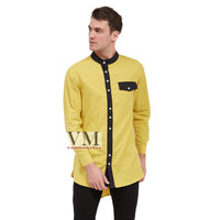 VM Baju Koko Muslim Gamis Jumbo Panjang Kuning Gold