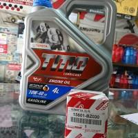 Paket ganti Oli Mobil Toyota TMO 10w 40 untuk avanza rush calya agya