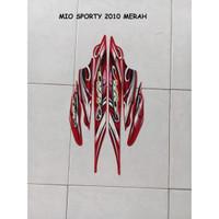 Sticker Striping Lis Motor Yamaha Mio Sporty 2010 Merah