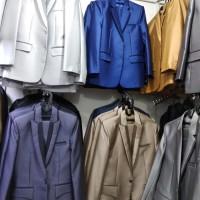 jas formal pria stelan jas dan celana bahan wool asli bonus cover jas