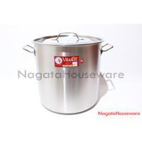 Panci Makan Saus Stainless Steel Stock Pot Vitalux Zebra 171236 Besar