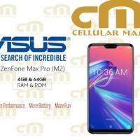 HP Asus Zenfone Max Pro M2 ZB631KL 4/64 RAM 4GB ROM 64GB GARANSI RESMI
