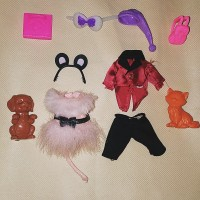 RARE! Baju Pakaian dan Aksesoris Boneka Barbie Kelly dan Tommy Doll