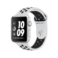 Apple Watch Nike+ GPS 38mm Silver Aluminium Case Black Sport Band