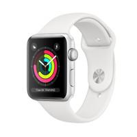 Apple Watch Series 3 GPS, 38mm Silver Aluminium Case White Sport Band
