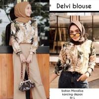 blouse pantai tunik atasan baju wanita muslim vintage pantai hem