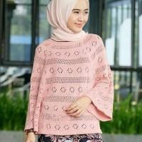 BAJU RAJUT model baru atasan wanita sweater rajut halus batwing blouse