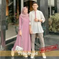 Baju Couple Pasangan Muslim Pria Wanita Koko dan Dress Farzana
