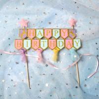 Cake Banner Happy Birthday Ballet Tutu Tusuk Hiasan Kue Ultah Bday