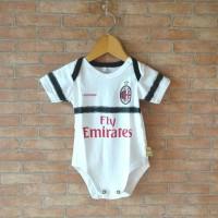 Baju Kaos Bola Bayi Anak Perempuan Laki Lucu AC Milan Away