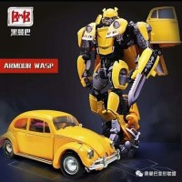 BMB (Black Mamba LS07 Transformer Autobot Bumblebee VW Beetle Figure