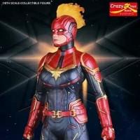 Crazy Toys Avenger EndGame Captain Marvel With Battle Helmet Figure