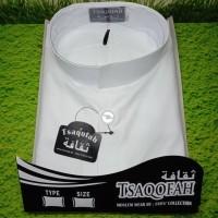 Baju Koko Haibah Salaf Polos warna Putih Merk TSAQOFAH size XXL
