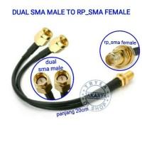 PIGTAIL DUAL SMA MALE B310 B315 RP_SMA FEMALE