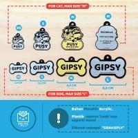 Kalung kucing anjing custom nama / bandul liontin nama / tag hewan