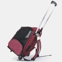 PE117 Troli Backpack Hewan Anjing Kucing Travel Pet Stroller Trolley