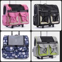 PE118 Pet Dog Cat Luggage Backpack Tas Koper Stroller Anjing Kucing