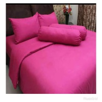 bedcover set Rosewell warna pink tua Size 160x200