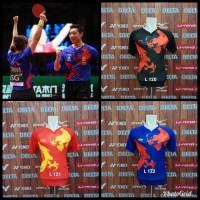 Baju Tenis Meja Lining GO Import Kaos Badminton Bulutangkis Pingpong