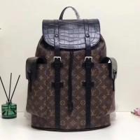 lv christopher backpack macassar croco flap