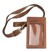 Custom Nama, Logo dan Instansi - ID Card Holder Kulit Sapi Asli
