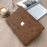 mac book New Air 13 Inch A1932 mac cover hard case Kulit Leather skin