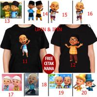 kaos baju kids anak anak upin & ipin 11 -20 free name