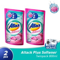Attack Liquid Plus Softener Refill Pouch 800mL Twinpack