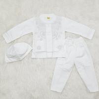 baju muslim anak bayi laki 1 2 3 tahun setelan gamis koko putih