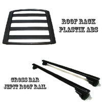Paket Roof Rack & Cross Bar Model Jepit Roof Rail Mobil honda freed