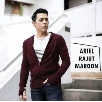 Sweater Pria / Kardigan / Jaket -- Jaket switer rajut ariel hitam