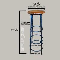 bangku kursi bakso kursi konter kursi cafe tinggi 100cm multifungsi