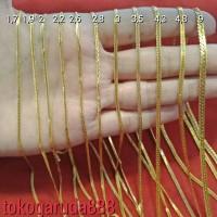 Dewasa & anak Rantai kalung emas asli kadar 700 22k 70% pipih lepes uk