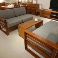 Kursi Meja Tamu Bantalan (Ikayu, rak, meja, kursi, Sofa, Lemari)