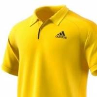 kaos polo shirt kaos pria ADIDAS mantap warna kuning stok lengkap
