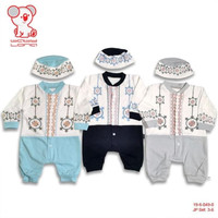 Baju Koko anak Bayi laki 0 1 2 3 bulan jumper romper newborn muslim