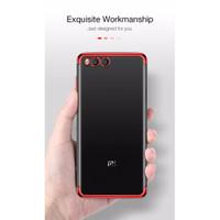 Xiaomi Mi 6 Shiny Electro Plating Clear Chrome Soft Case - Merah