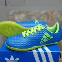 Sepatu Futsal Anak Adidas X Techfit Kids Biru Hijau Sport Import