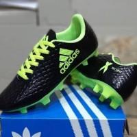 Sepatu Sepak Bola Anak Adidas X Techfit Kids Hitam Hijau Soccer Import