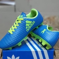 Sepatu Sepak Bola Anak Adidas X Techfit Kids Biru Hijau Soccer Import