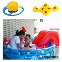free pompa injak kolam renang anak viking ular kolam mandi bola