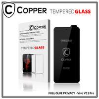 Vivo V11 Pro - COPPER Tempered Glass PRIVACY / ANTI SPY (Full Glue)