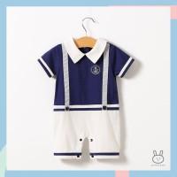 Baju Romper / Jumper Anak Bayi Laki-laki Nautical Sailor Pelaut - 0-3