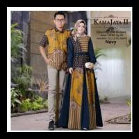 Baju Batik Couple Keluarga Pasangan Muslim Gamis Pesta Couple 2 Big