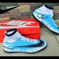 Sepatu Futsal Pria Nike Mercurial Cr7 Biru Putih Ekslusif