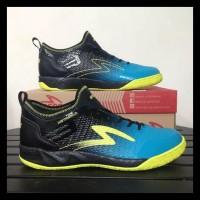Sepatu Futsal Specs Metasala Musketeer Black Coct Blue 400735 Original